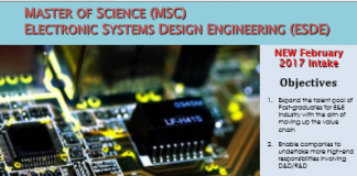 Fully Sponsored Master Program - USM MSc (Electronic Systems Design Engineering)